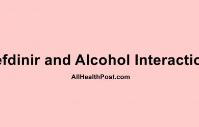 Cefdinir and Alcohol Interactions